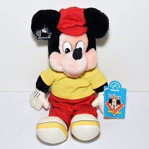 NWT Applause Vintage Mickey Mouse Golfer Plush